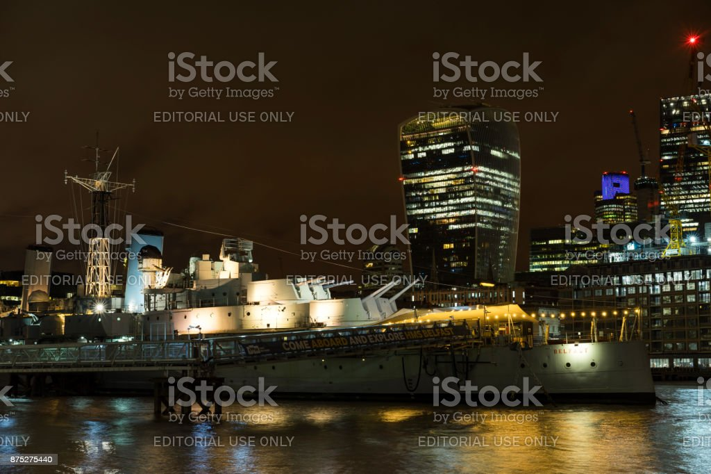 Night scene of the city London Great Britain stock photo