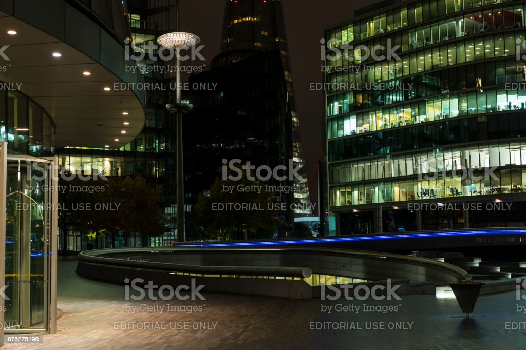 Night scene of the city London in United Kingdom stock photo