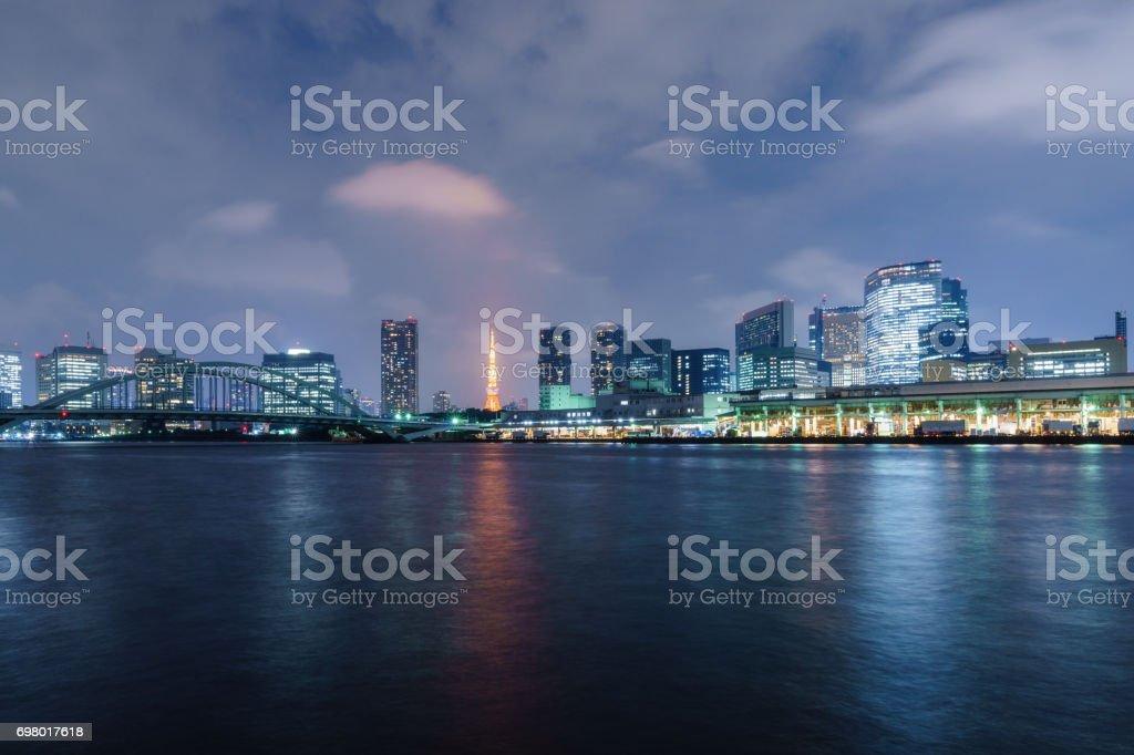 Night Scene of Tokyo stock photo