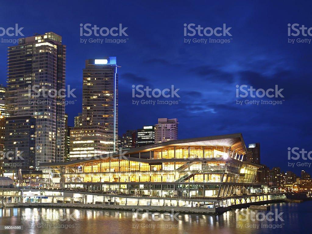 Night Scene of Vancouver royalty-free stock photo
