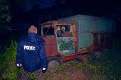 night crime scene,