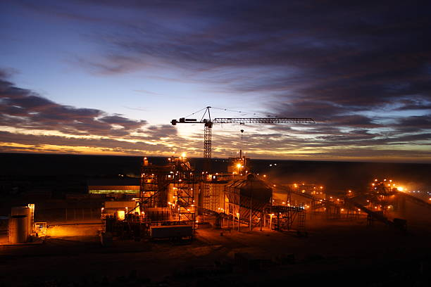 night shift - gold mine stock photos and pictures