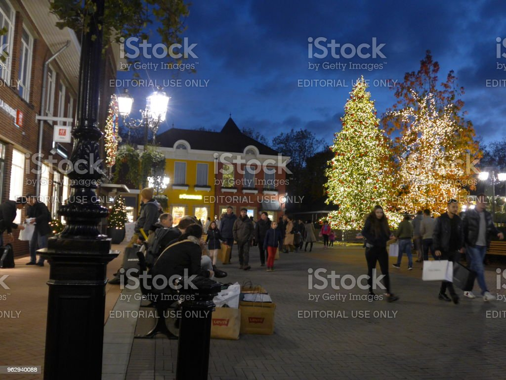 Night Shopping in Roermond stock photo