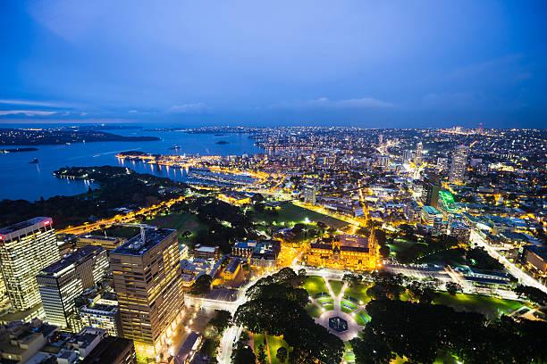 Night shot of Sydney, Australia stock photo
