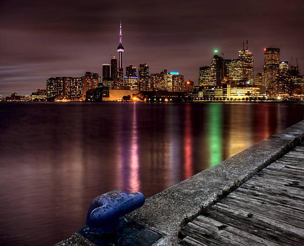 Night Shot Toronto stock photo
