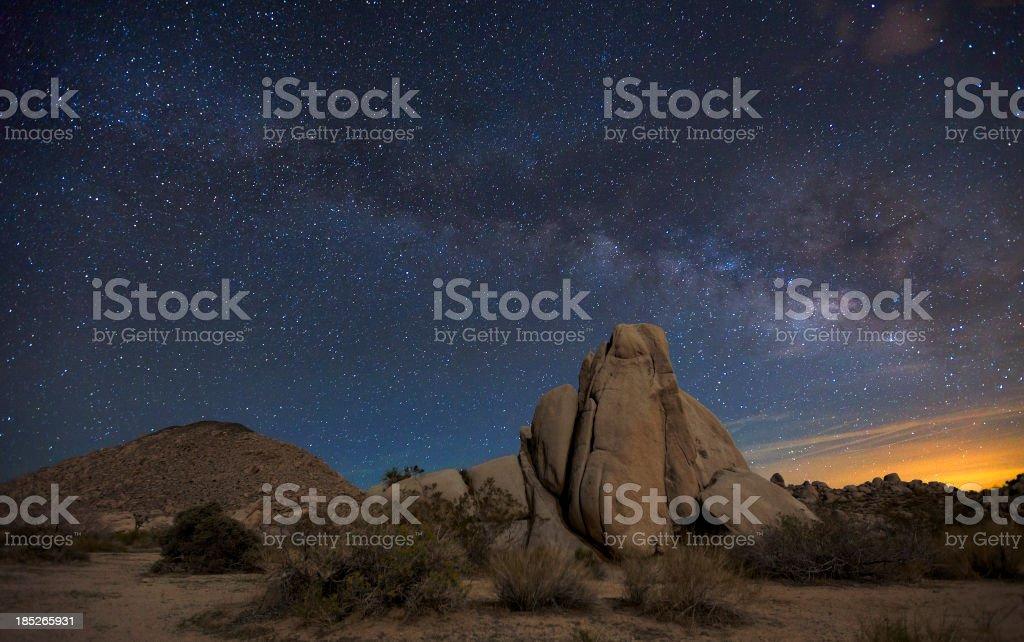 Night Sky At Joshua Tree National Park Stock Photo