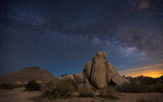 Night Sky At Joshua Tree National Park Stock Photo More