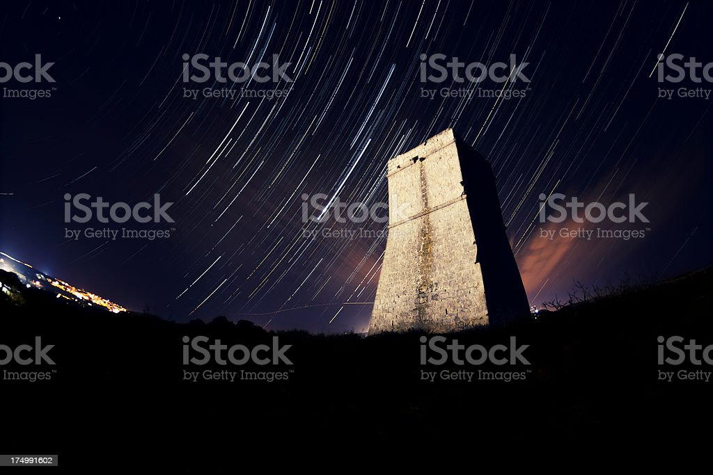 Night Sky in Malta stock photo