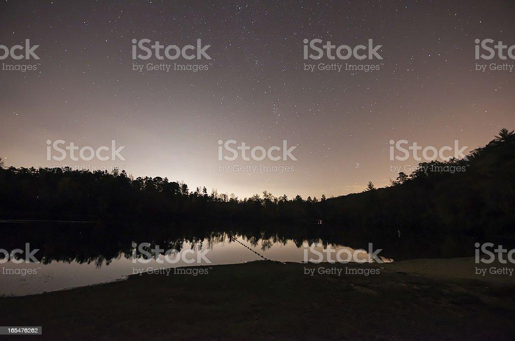 Night Sky in North Carolina royalty-free stock photo