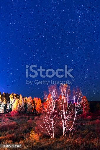 809971888istockphoto Night sky landscape in autumn 1052730202