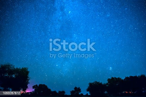 809971888istockphoto Night sky landscape in autumn 1053287612