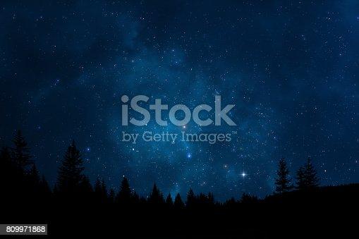 809971888 istock photo Night sky landscape 809971868