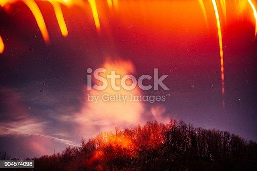 653506436istockphoto Night sky landscape 904574098