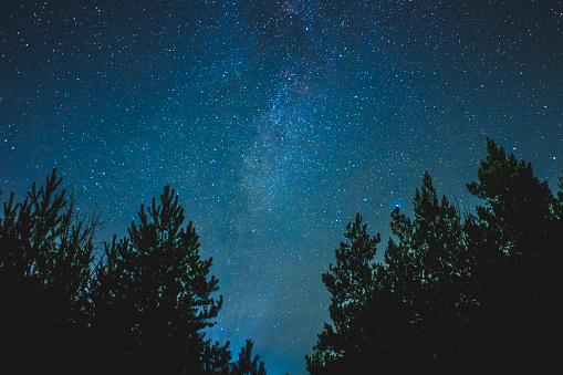 농촌 풍경을 밤 하늘 0명에 대한 스톡 사진 및 기타 이미지