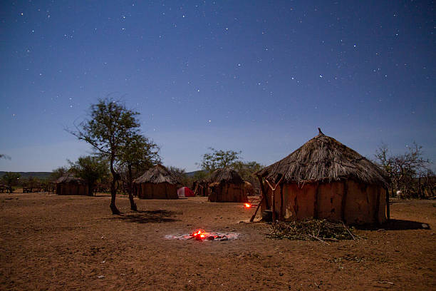 Night Sky Over The Himba Village stock photo