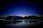 Night Sky looking from Colorado River Nevada USA