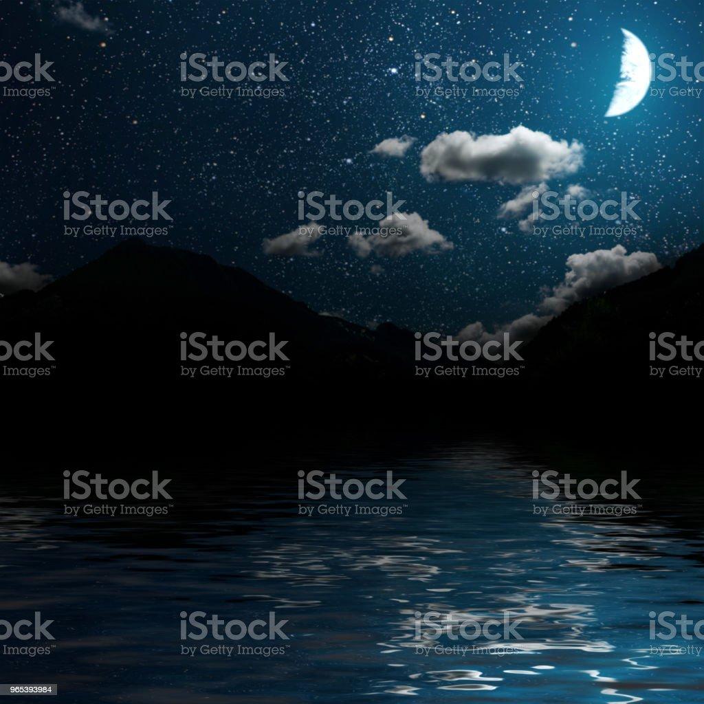夜晚的天空 - 免版稅光圖庫照片