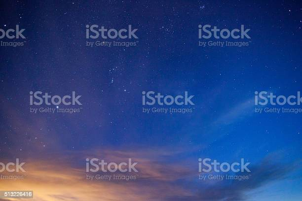 Photo of night sky simple abstract