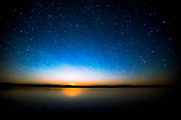night sky south saskatchewan canada. - mondhoroskop stock-fotos und bilder
