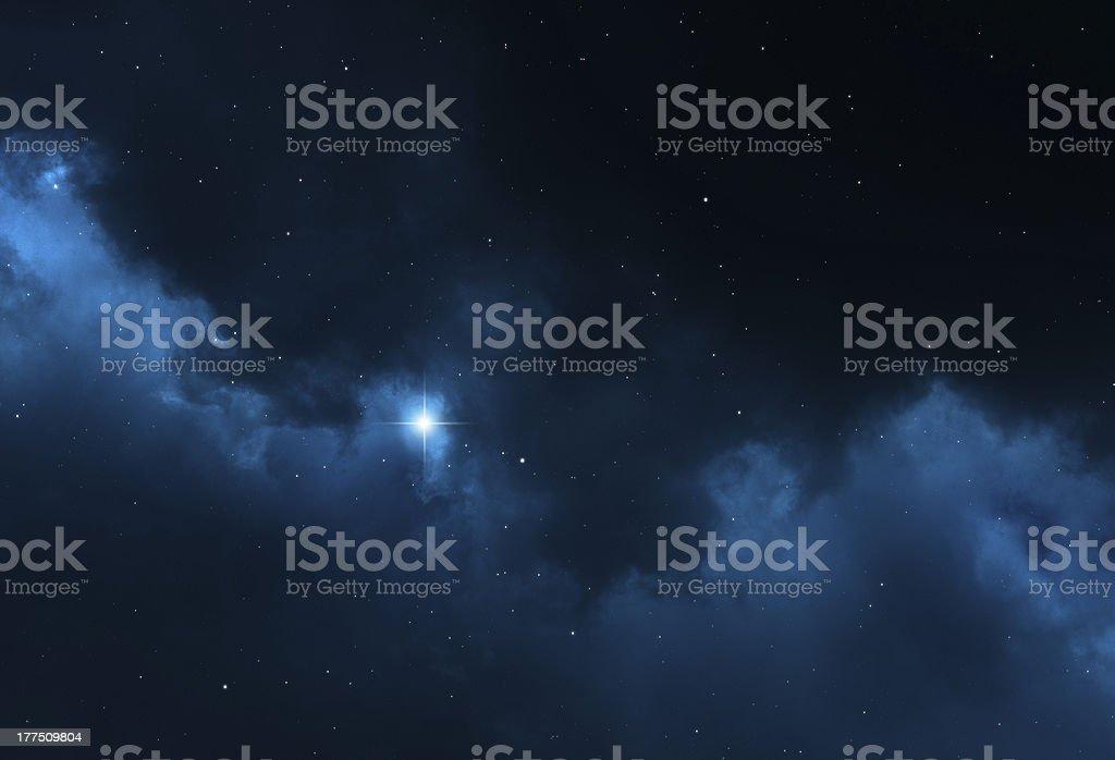 Night sky space background - stars, universe, galaxy and nebula royalty-free stock photo