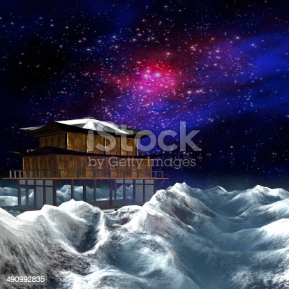 478539432 istock photo Night sky stars scene 490992835