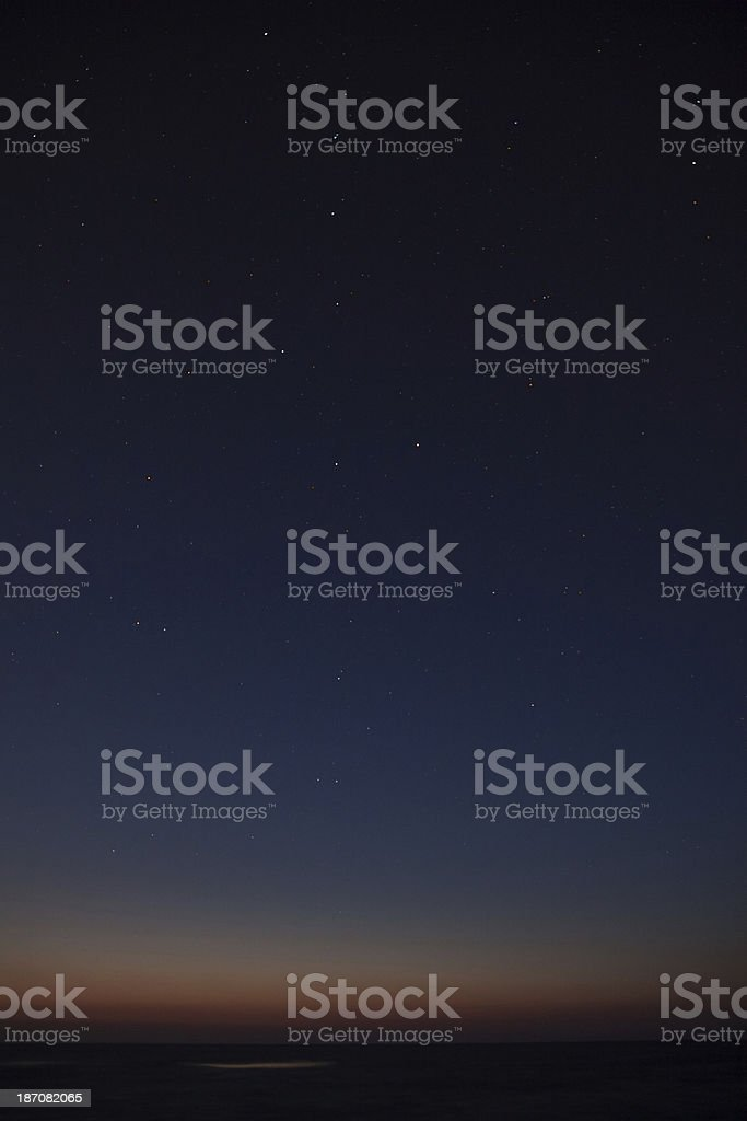Night sky stars view with Big Dipper royalty-free stock photo