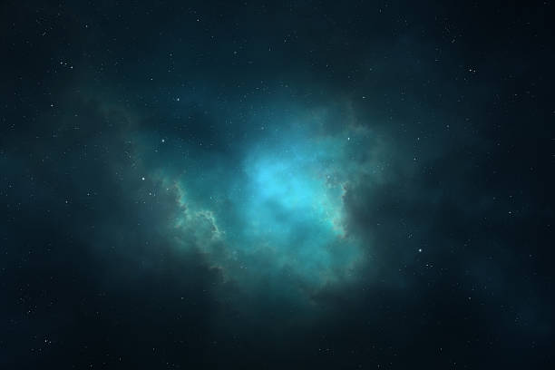 Night sky - Universe filled with stars, nebula and galaxy Space background - space landscape with stars, nebula, and galaxy formation similar to the Milky way nebula stock pictures, royalty-free photos & images