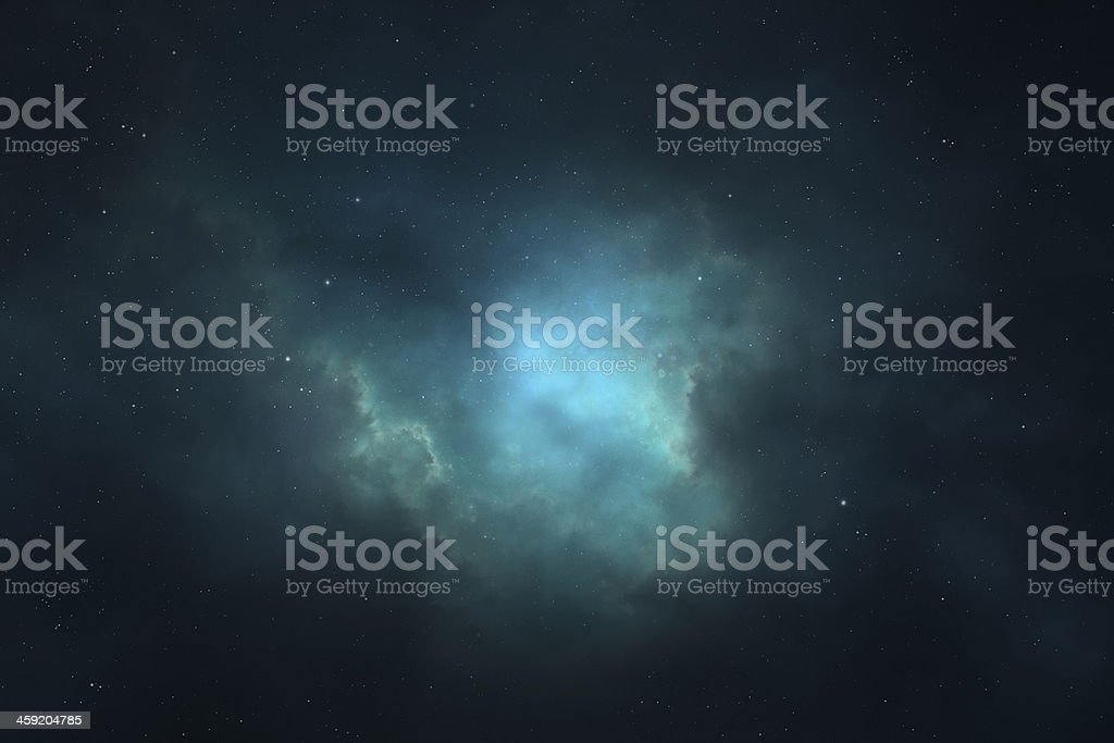 Night sky - Universe filled with stars, nebula and galaxy stock photo