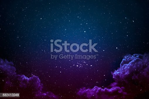 532378051 istock photo Night sky with stars and clouds. 532412049