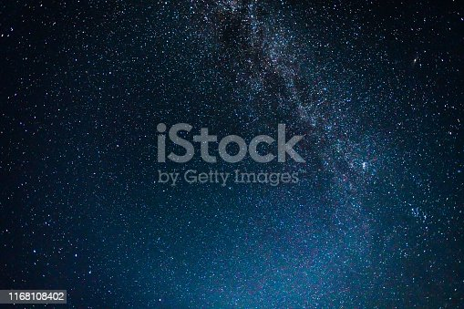 istock Night Sky with Stars and Milky Way Universe 1168108402