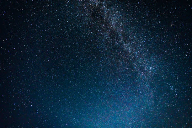 Night Sky with Stars and Milky Way Universe Night Sky with Stars and Milky Way Universe dark blue stock pictures, royalty-free photos & images