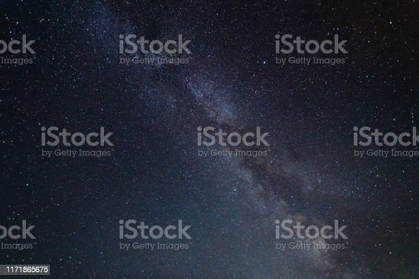 Photo of Night Sky with Stars and Milky Way Universe