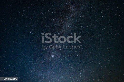 971578384 istock photo Night Sky with Stars and Milky Way Universe 1204892550