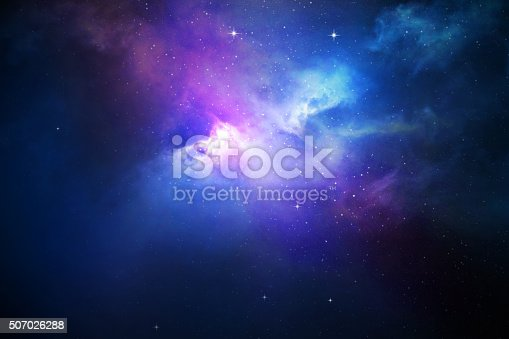 istock Night sky with stars and nebula 507026288
