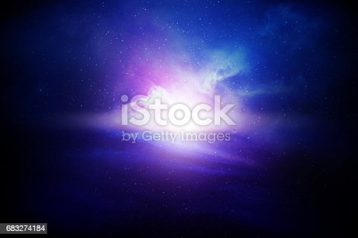 532378051 istock photo Night sky with stars and nebula 683274184