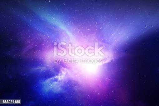 532378051 istock photo Night sky with stars and nebula 683274186