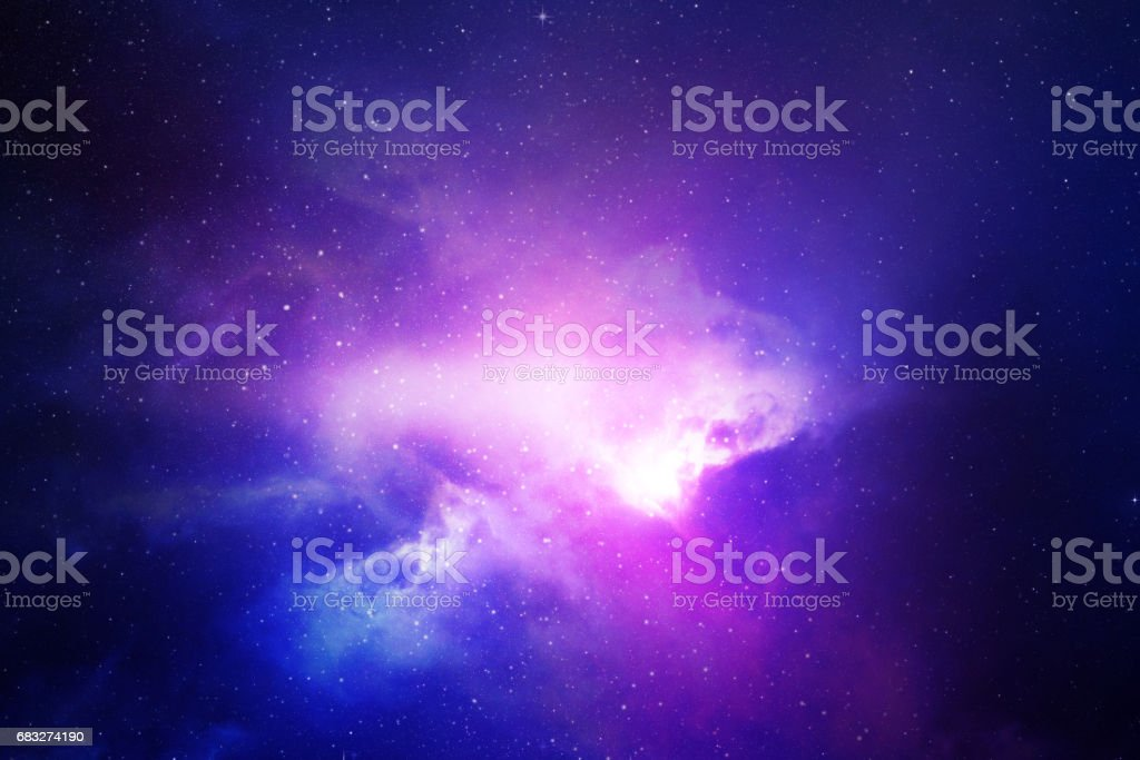 Night sky with stars and nebula royalty-free stock photo