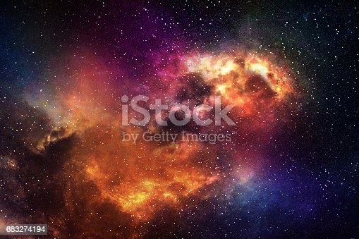 532378051 istock photo Night sky with stars and nebula 683274194