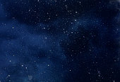 Night Sky with Stars and soft Milky Way Universe as Background or Texture