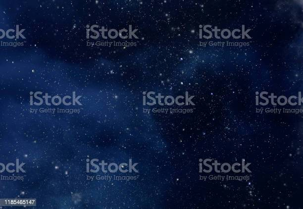 Photo of Night Sky with Stars and soft Milky Way Universe as Background or Texture