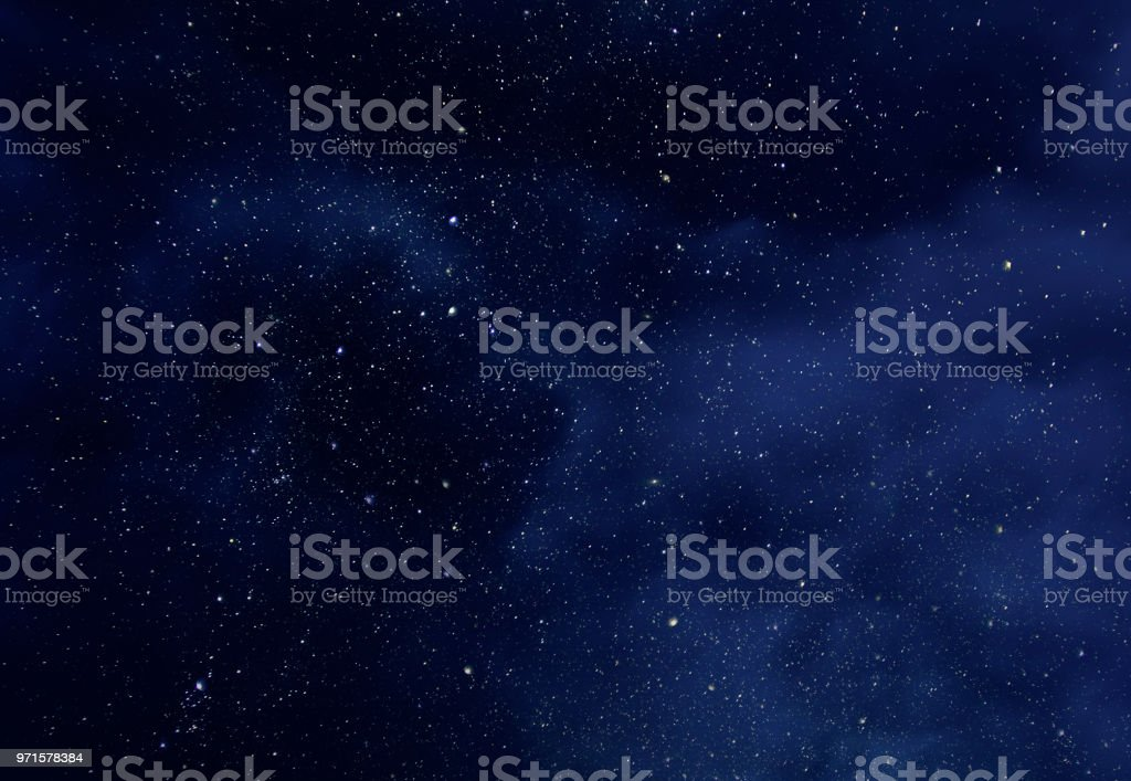 Night Sky with Stars and soft Milky Way Universe as Background or Texture royalty-free stock photo
