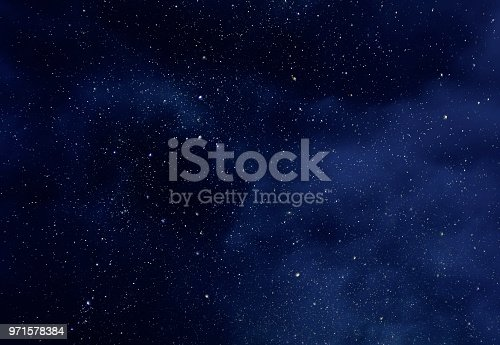 istock Night Sky with Stars and soft Milky Way Universe as Background or Texture 971578384