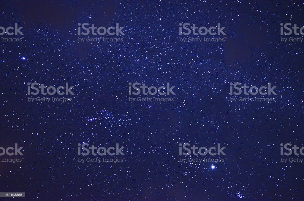 Night sky with stars royalty-free stock photo