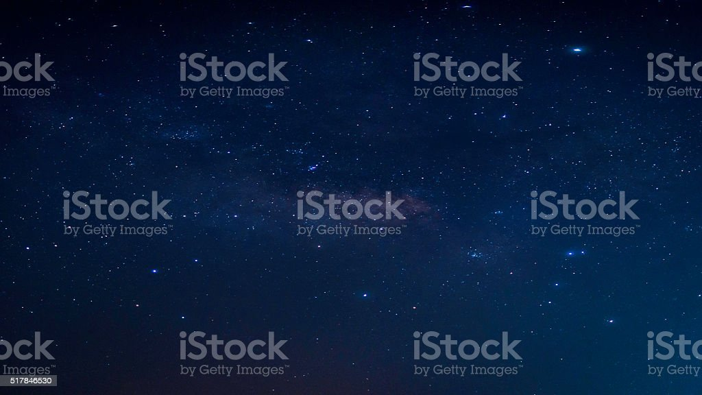 Night sky with stars. stock photo