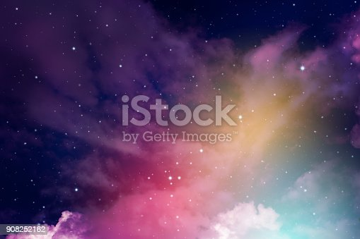 istock Night sky with stars. 908252162
