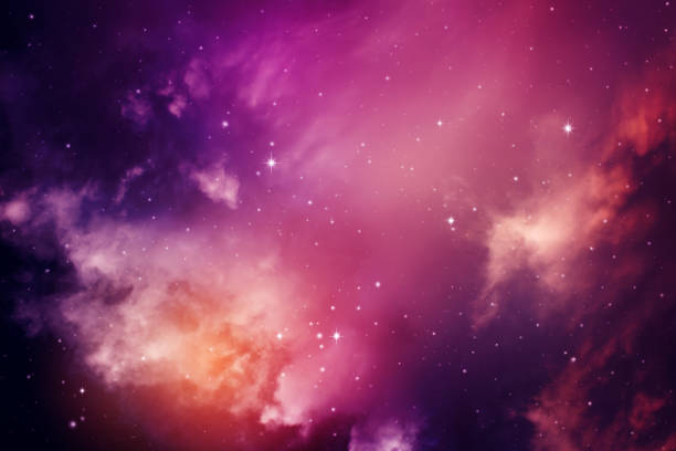 ciel de nuit avec les étoiles. - galaxie photos et images de collection