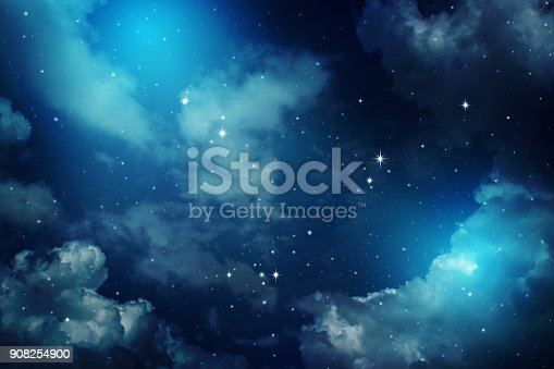 istock Night sky with stars. 908254900