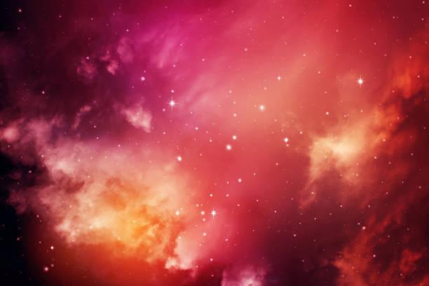 night sky with stars. - sternhaufen stock-fotos und bilder