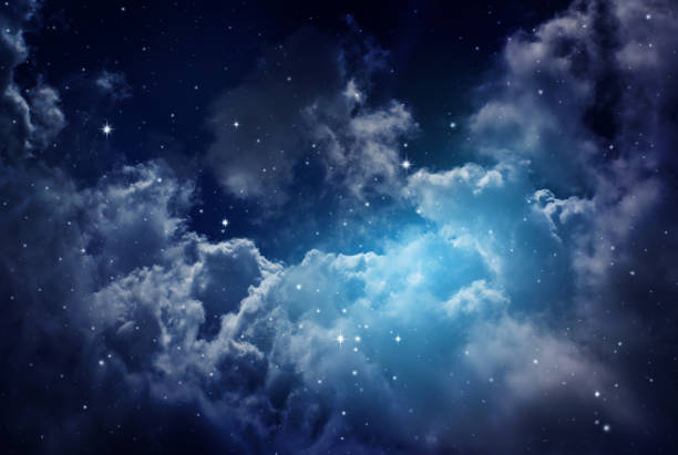 night sky with stars. - nebula stock pictures, royalty-free photos & images