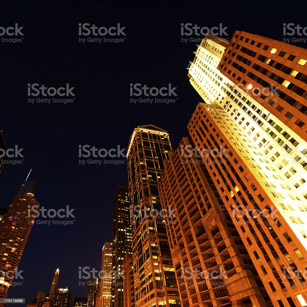 Night Skyline,Chicago royalty-free stock photo